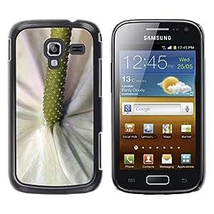 Be Good Phone Accessory // Dura Cáscara cubierta Protectora Caso Carcasa Funda de Protección para Samsung Galaxy Ace 2 I8160 Ace II X S7560M // Green White Flower Tropical Nature