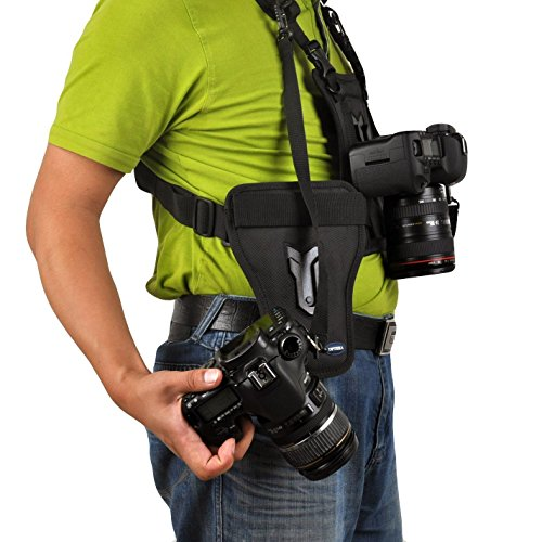 Opteka MCH-25 Multi Camera Carrier Harness Holster System for Digital SLR Cameras by Opteka