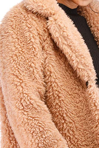 81e4e3b6092 Kooosin New Women s Warm Fluffy Long Sleeve Faux Zip Fastening Winter Coat  Plus Size