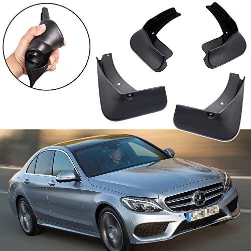 SPEEDLONG 4Pcs Car Mud Flaps Splash Guard Fender Mudguard for Mercedes-Benz C43 AMG Sedan & C43 AMG - Mercedes Mud Flaps