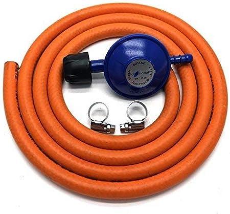 Regulador de gas tipo Camping Gas 30Mbar con manguera de 2 m + 2 clips para 907 904 901