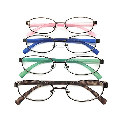 I.Image Women's Metal & TR-90 Memory Plastic 4-Pack Reading Glasses - Tr 90