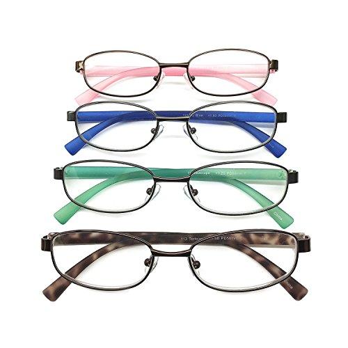 I.Image Women's Metal & TR-90 Memory Plastic 4-Pack Reading Glasses (+2.00) (Image Womens)