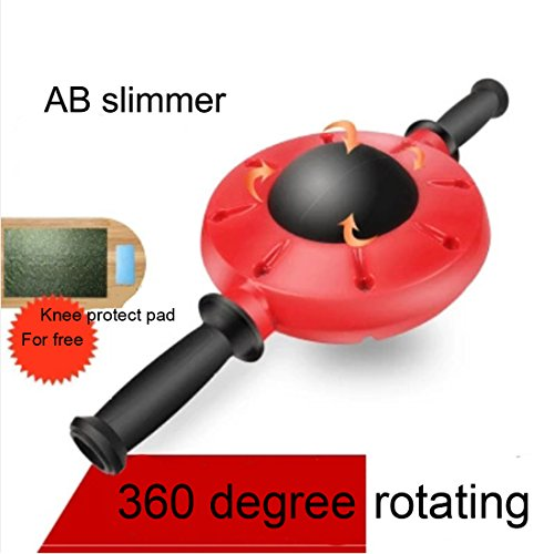 Core Fitness 360°Healthy Abdominal Wheel AB Silmmer Roller Wheel ABS Push-up Wheel with Kneepad, Floor Stopper for Abdominal & Stomach Exercise (Ss Training Pads)