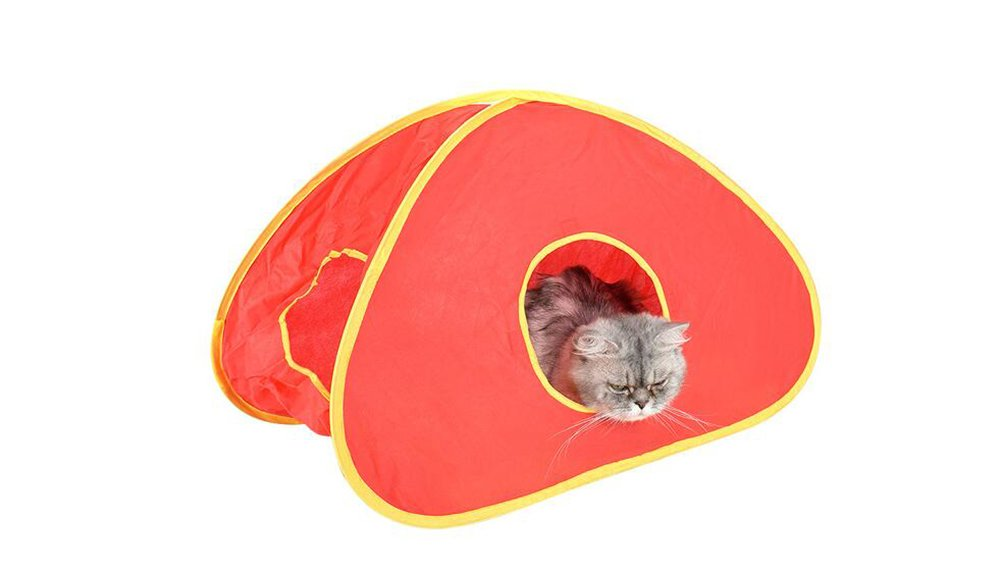 Pet Tunnels Crinkle Peep Hole Design for Small Medium Cats Interactive Toy 6639.539.5 cm