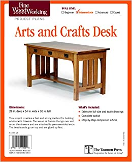 Fine Woodworking S Arts And Crafts Desk Plan Editors Of Fine