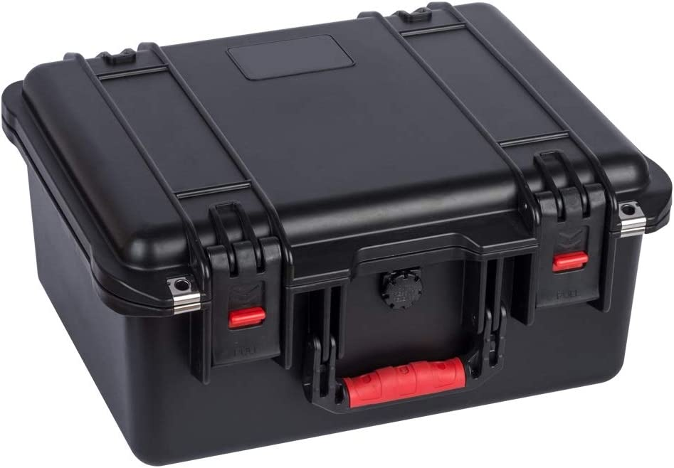 Safety Protection Box Multi-Function Accessories Storage Protection Case Equipment Protective PP Material Color : Black