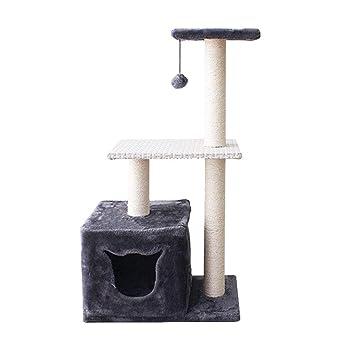 NYJ Árbol De Gato Marcos De Escalada para Gatos Nivel Múltiple Torre De Gato con Escalera Juguetes De Actividad Casa De Cama para Mascotas: Amazon.es: ...
