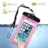 Waterproof Case, Firefish Wallet Bag Dirtproof Snowproof Pouch Dry Bag for Kayaking Swimming for Apple iPhone 7 6 5, Samsung Galaxy S8 S7 S7 edge, LG, Motorola and Devices Up To 7.0'
