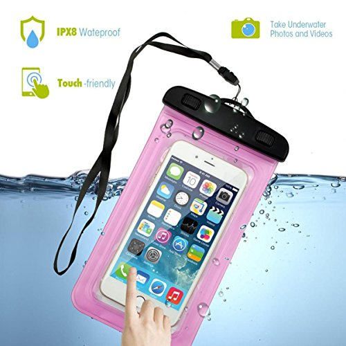 Waterproof Case, Firefish Wallet Bag Dirtproof Snowproof Pouch Dry Bag for Kayaking Swimming for Apple iPhone 7 6 5, Samsung Galaxy S8 S7 S7 edge, LG, Motorola and Devices Up To 7.0