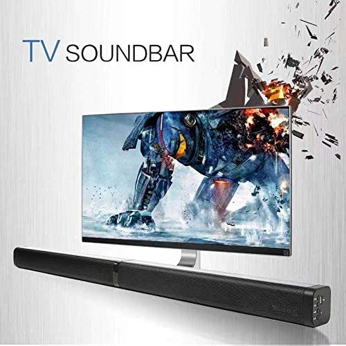 Bluetooth Sound Bar Portable Soundbar for Home Theater Wireless Speakers 3D Surround Sound with Built-in Subwoofers for TV PC Phones Tablets with Remote Control 37