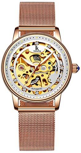 Erbida Women's Rose Gold Tone Auto Self Winding Stainless Steel Watch