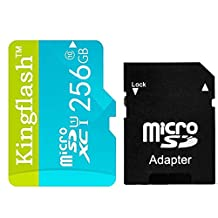 Kingflash 128GB Micro SD Card Class10 Rose Memory Card Flash Card Memory Microsd for Smartphone Tablet PC (128GB, Blue)