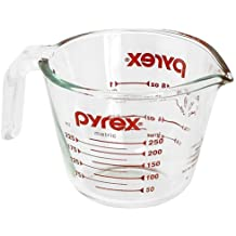 Pyrex Prepware 1-Cup Measuring Cup, Clear with Red Measurements