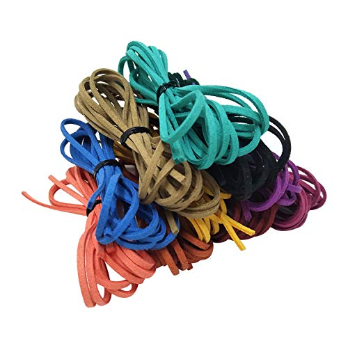 Suede Cord Faux Leather Cord Jewelry DIY Crafts Velvet Leather Cord String Beading Thread (Mix 10 Colors)