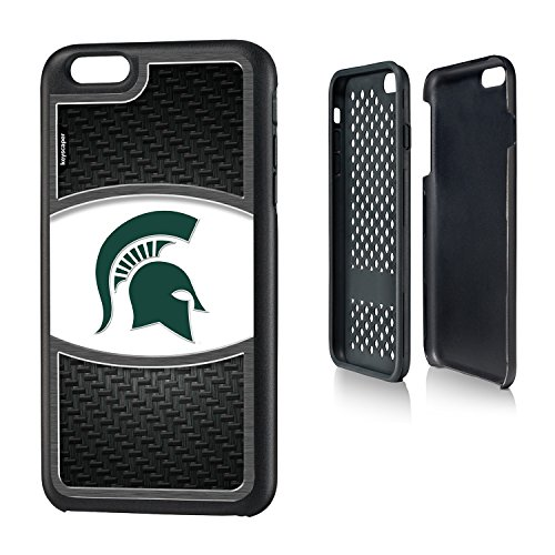 Michigan State Spartans iPhone 6 Plus & iPhone 6s Plus Rugged Case officially licensed by Michigan State University for the Apple iPhone 6 Plus by keyscaper® Durable Two Layer Protection (Spartan Armor For Sale)