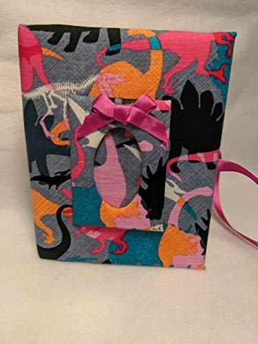 Custom Dinosaur Photo Album For Girls - Holds 100 4x6 Photos - Handmade Fabric Photo Album