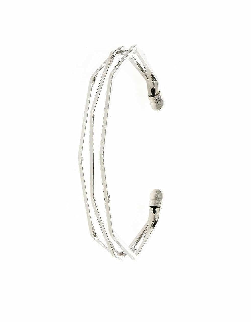 Anuradha Art Silver Finish Designer Styled with Delicate White Beads Adjustable Kada Hand Bracelets for Women//Girls