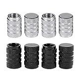 tire dust covers - eBoot Tire Valve Caps Valve Stems Cover Car Wheel Dustproof Cap, Silver and Black, 8 Pieces