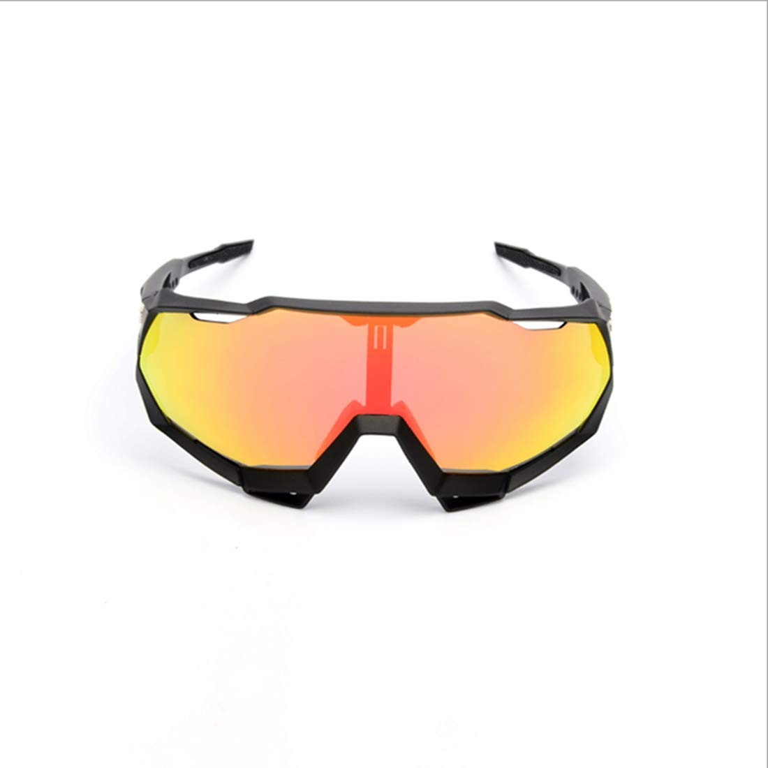 MAGAI Gran Espejo de Lentes Intercambiables Protección UV Gafas de Montar a Caballo (Color : Black Red)