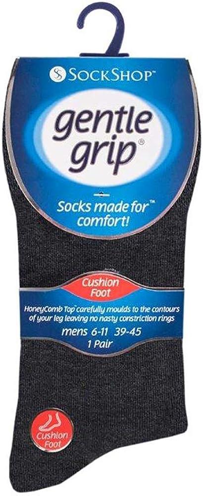 SockShop Da Uomo 3 Imballare Gentle Grip Calze a nido d/'ape Top Taglia 6-11 NUOVO con etichetta 3 Designs