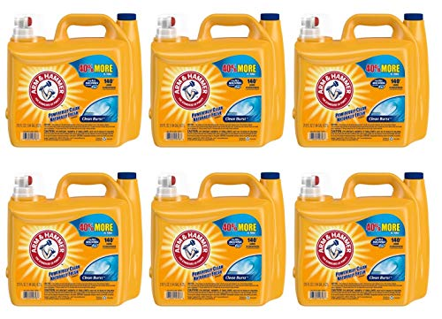 Arm & Hammer 2X Ultra Clean Burst Liquid Laundry Detergent 210 oz WLM (Pack of 6) by by Arm & Hammer (Image #1)