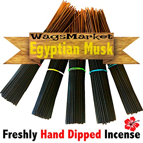 WagsMarket Premium Hand Dipped Incense Sticks, You choose the Scent. 100 - 12in Sticks. (Egyptian (100 Incense Stick)