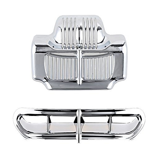 Set Chrome Cover Stock Oil Cooler + Fairing Intake Vent Accent for Harley Electra Street - Oil Chrome Stock