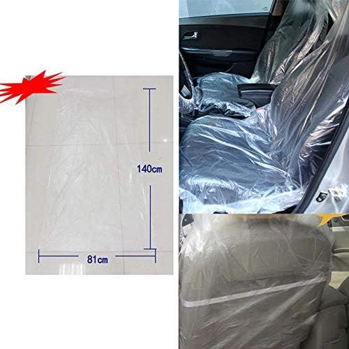 Leaftree Coprisedile USA e Getta,10 Pezzi//Pacco seggiolino Auto Copertura Protettiva in plastica per Cuscino Auto