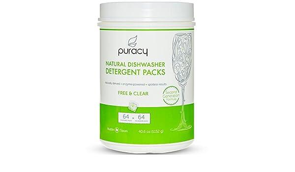 puracy Natural lavavajillas detergente paquetes, 2 nd generación ...