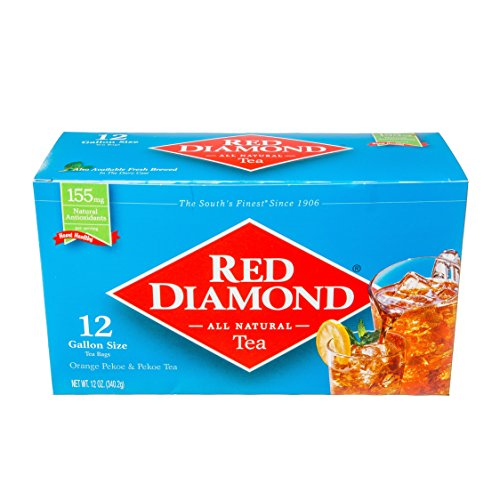 - Red Diamond All Natural Iced Tea Bags Gallon Size, 12 Count (Pack of 12) (makes 144 Gallons)