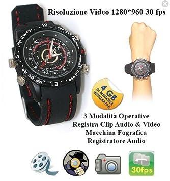 Reloj espía con grabador de Audio, vídeo Microcamera cámara de fotos: Amazon.es: Electrónica