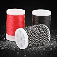 3 Colors 120m Archery Bow String Serving Thread, Strong Pull Fiber Bowstring Protector for Bows Target Hunting
