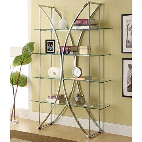 Coaster Chrome Shelf (Modern Tempered Glass Shelf)