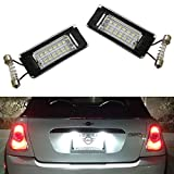 iJDMTOY OEM-Fit 3W Full LED License Plate Light Kit For 2006-14 MINI Cooper Gen2 R56 R57 R58 R59 Powered by 18-SMD Xenon White LED & Can-bus Error Free