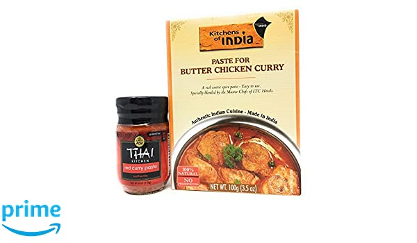 Amazon.com : Thai Red Curry And Hot India Butter Chicken Paste Bundle :  Grocery U0026 Gourmet Food