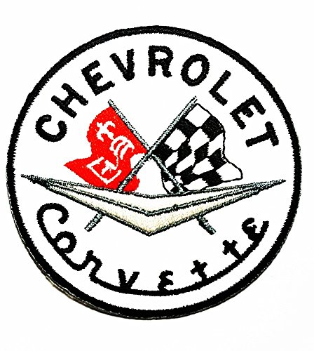 CHEVROLET CORVETTE Racing Patch Embroidered Iron on Hat Jacket Hoodie Backpack Ideal for Gift/ 7.5cm(w) X 7.5cm(h)