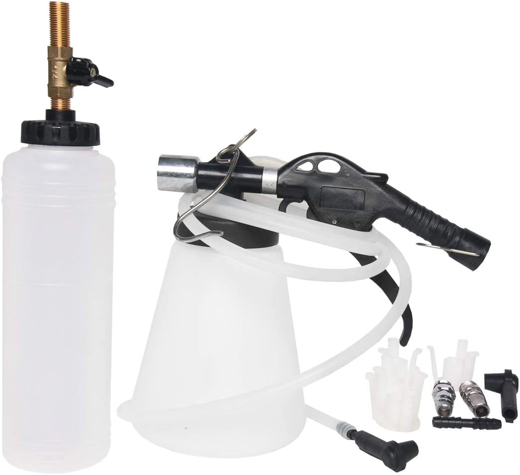 Copap Brake Fluid Bleeder with 4 Master Cylinder Brake Bleeder Tool Adapters 90 to 120 PSI