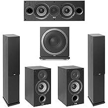Elac Debut 2.0-5.1 System with 2 F5.2 Floorstanding Speakers, 1 C5.2 Center Speaker, 2 B5.2 Bookshelf Speakers, 1 Elac SUB3010 Subwoofer