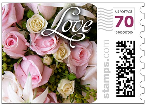 USPS Love Wedding Roses Stamps - Two-ounce stamps Sheet of 20