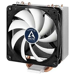 Arctic Freezer 33 - Enfriador de CPU semi pasivo con ventilador PWM 120 mm para Intel 115X/2011-3 y AMD AM4, color negro y gris