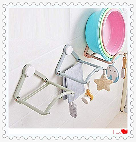 Bathroom/kitchen space saving storage shelf (2 PCS, random colors)