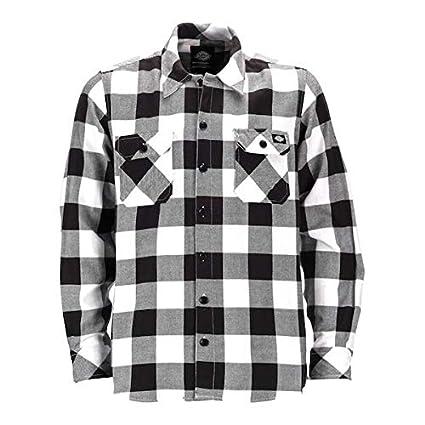 Camisa de Hombre Disckies de Manga Larga Blanca 3XL Blanco/Negro ...