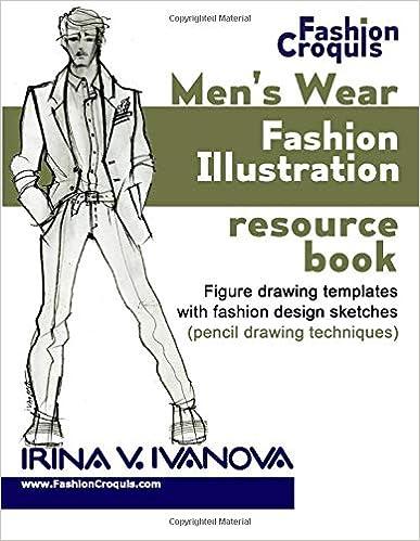 Men\u0027s wear fashion illustration resource book Figure