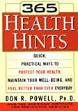 365 Health Hints, Don R. Powell, 1578660483