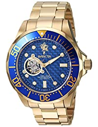 Invicta Men's 'Sea Base' Automatic Stainless Steel Casual Watch, Color:Gold-Toned (Model: 17924)