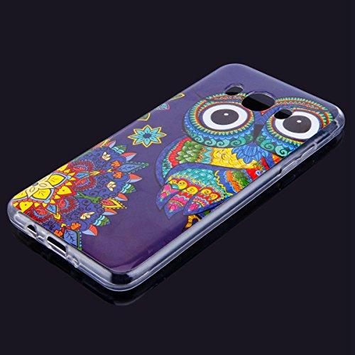 Funda Samsung Galaxy J5 2016 , Carcase Samsung Galaxy J5 2016 Silicona Transparente,Etsue Ultra Delgado Carcasa TPU para Samsung Galaxy J5 2016 Caso Gel Cristal Claro Cover con Creativa Gráfico Perro  Búho Azul