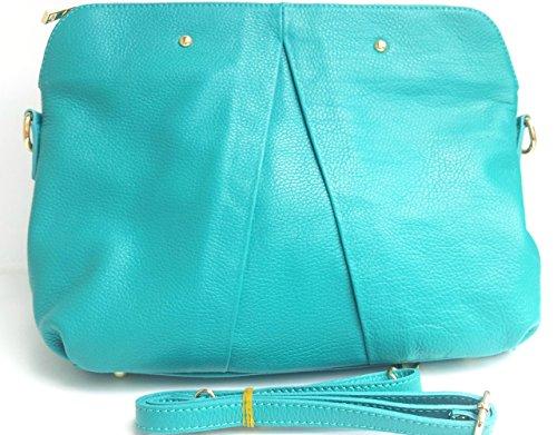Superflybags - Bolso de asas para mujer M azul turquesa