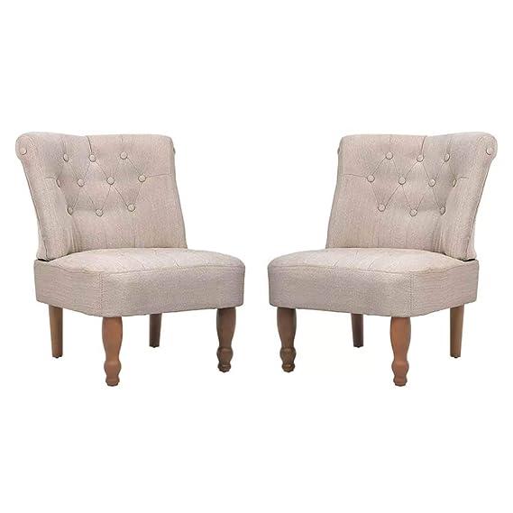 Xinglieu de 2 Piezas Set sillones sillas franceses de Tela ...