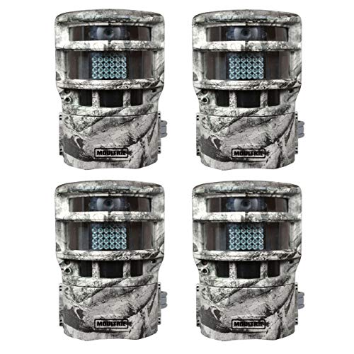 Moultrie Game Spy P150 Low Glow 8MP Panoramic Infrared Game Camera (4 Pack)